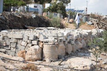 Demolished structure Um al Kher