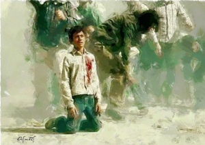 freedom fighter 3 Artist- Alberto Smith Saravia.   %22And they searched his chest But could only find his heart And they searched his heart But could only find his people%22 - Mahmoud Darwish